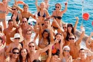 Festa di compleanno lago di Garda in barca